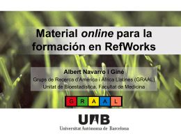 RefWorks - Graal - Universitat Autònoma de Barcelona