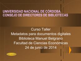 qué son los metadatos? - RDU - Universidad Nacional de Córdoba