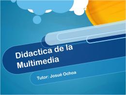 Didactica de la Multimedia