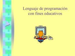 Lenguaje de programación con fines educativos
