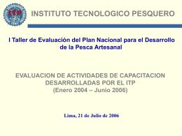 Exposición Resultados ITP