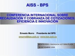 Exposición E. Murro, AISS Recaudación y Cobranza Cotización