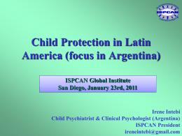 Irene Intebi - International Society for the Prevention of Child Abuse