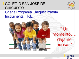 PEI - Colegio San José de Chicureo
