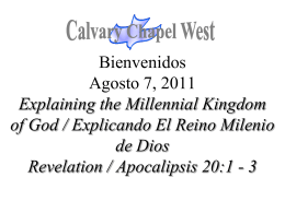 Revelation 20:1-3 - Calvary Chapel West