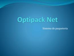 Sistema de paquetería
