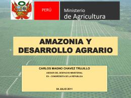 amazonia y desarrollo agrario - Congreso de la República del Perú