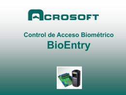 Modelo BioEntry Smart Lector de Huella Dactilar