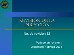 REVISIÓN DE LA DIRECCIÓN 32