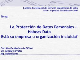 Qué son los datos personales? - Consejo Profesional de Ciencias