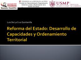 Reforma Estado Desarrollo de Capacidades Luis De La Cruz