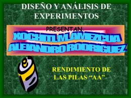 """EVALUACIÓN DE LAS BATERÍAS """"AA"""" (PILAS)"""