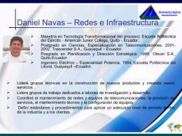 Consultores - Daniel Navas