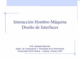 Interacción Hombre-Máquina - LDC