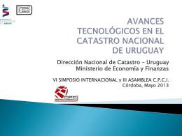 Avances tecnológicos en el Catastro nacional de Uruguay