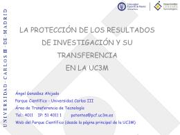 Presentación PDIs - Universidad Carlos III de Madrid