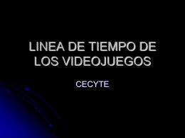 LINEA DE TIEMPO DE LOS VIDEOJUEGOS (612352)