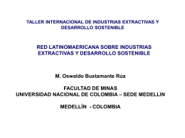 Redes y Manejo de Información Minera en Colombia, Sr. Oswaldo