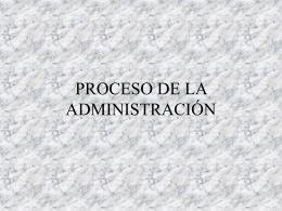 Procesos de la Administracion
