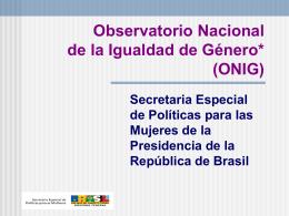 Observatorio Nacional de la Igualdad de Género