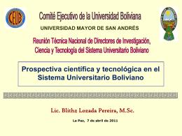 Prospectiva tecnológica - bienvenidos a ciencias y letras