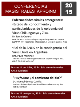 Difusion conferencias Julio Agos 2015