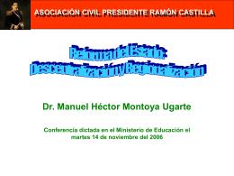 Reforma del Estado - Asociación Civil Presidente Ramón Castilla