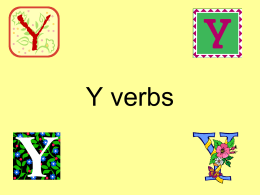 Y verbs - Las clases de la Sra. Meissner