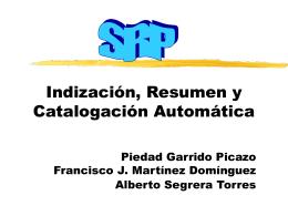 Indización, Resumen y Catalogación Automática