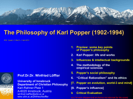 5. Popper`s Social Philosophy