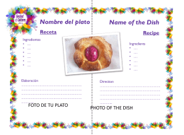 Plantilla recetas/ Template recipes