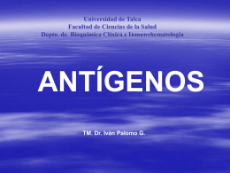 Antigenos - Universidad de Talca