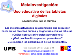 Uso educativo de las tabletas digitales