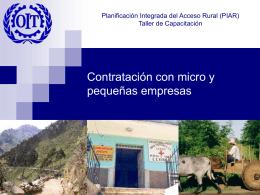 Presentación - Micro y pequeñas empresas Nicaragua