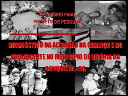 projeto diagnóstico da situação da criança e adolescente