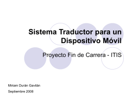 Sistema Traductor para un Dispositivo Móvil