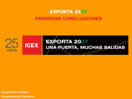 2.- Internacionalización sector servicios