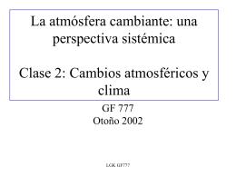 La atmósfera cambiante: una perspectiva sistémica