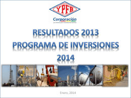 YPFB PROGRAMA DE INVERSION 2014