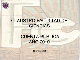 cuenta pública - Facultad de Ciencias