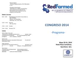 Programa - Desarrollo de Fármacos y Métodos Diagnósticos
