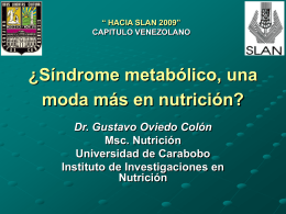 ¿Síndrome metabólico, una moda más en nutrición?