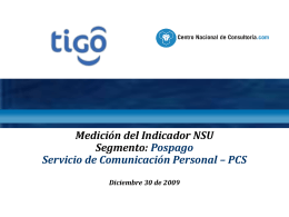 Informe NSU PCS Pospago