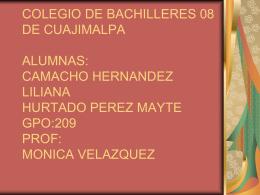 colegio de bachilleres 08 de cuajimalpa alumnas