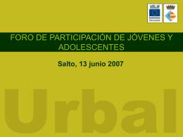 Diapositiva 1 - Centro de Documentación del Programa URB-AL