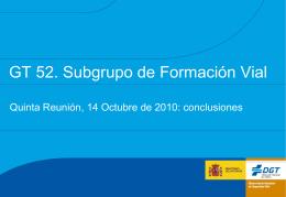 GT 52 Subgrupo Formación 5ª Reunión conclusiones v3