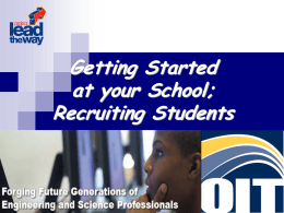 Getting Started and Recruitment - Oregon Institute of Technology