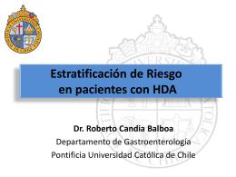 Estratificación de Riesgo en pacientes con HDA