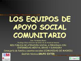 los equipos de apoyo social comunitario
