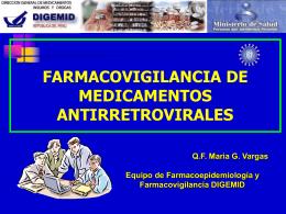 Farmacovigilancia de Medicamentos Antirretrovirales